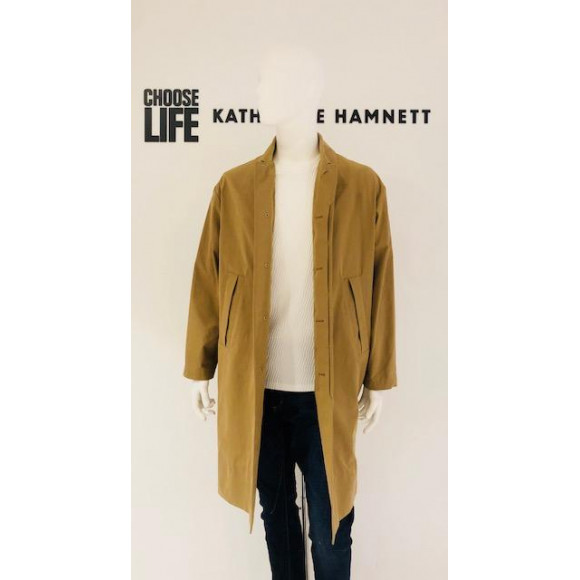 「KATHARINE HAMNETT LONDON」 OVERSIZE STAND FALL COLLAR COAT