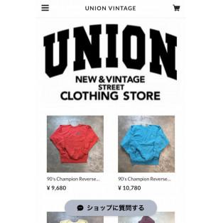 UNION online store start!!!