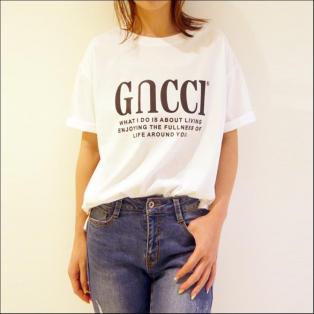 GucciパロディTee[Color: ホワイト]