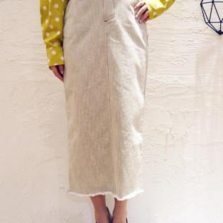 タイトロングスカート[Color: ウォッシュグレー]
