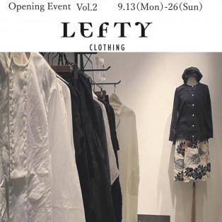 LEFTY clothing pop up