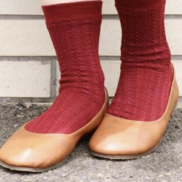 内側シルク2重編靴下