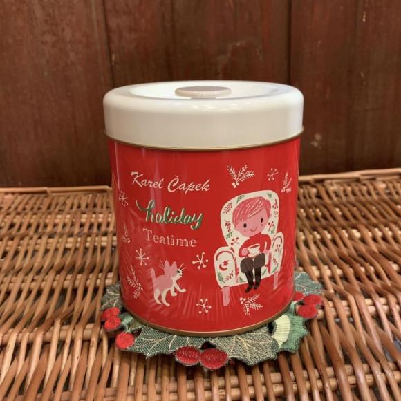 カレルチャペック クリスマスキャニスター缶