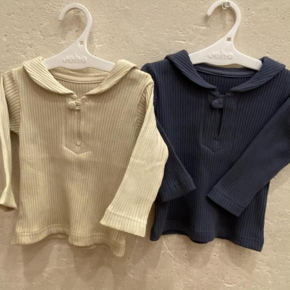 apセーラー襟Tシャツ80