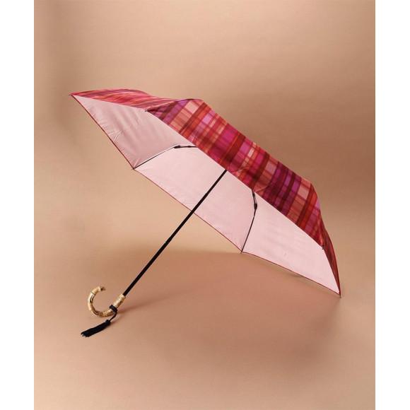 バンブーハンドル折りたたみ傘