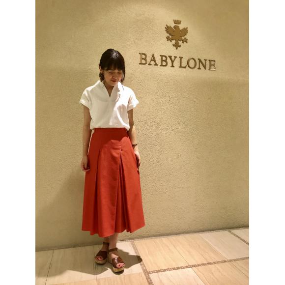 【SALE】タックインタックフレアスカート