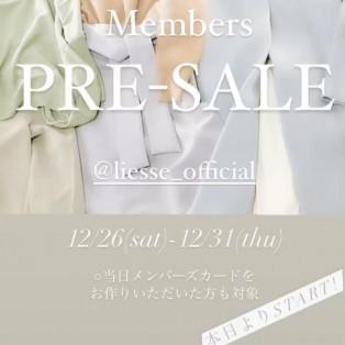 Members  PREーSALE