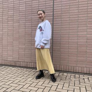 折り紙プリーツロングスカート