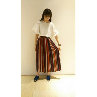 マルチストライプロングスカート☆