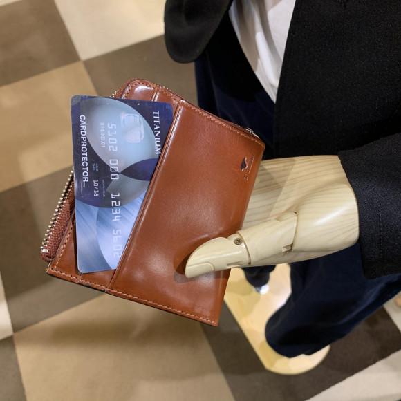 【イルブセット】スマートに収納可なレザーお財布