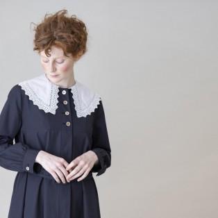 【Jane Marple】ケープレースカラーコートドレス