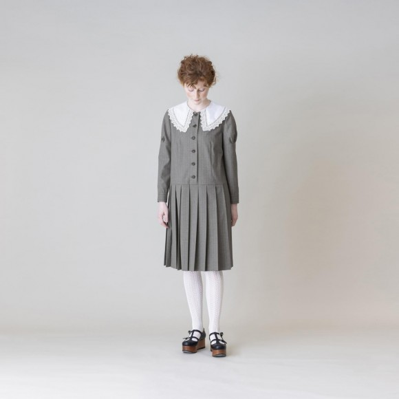 【Jane Marple】Bespoke stripe ケープレースカラードレス