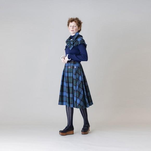 【Jane Marple】ウールタータンチェック2faceスカート
