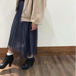 新作♡ラメプリーツスカート