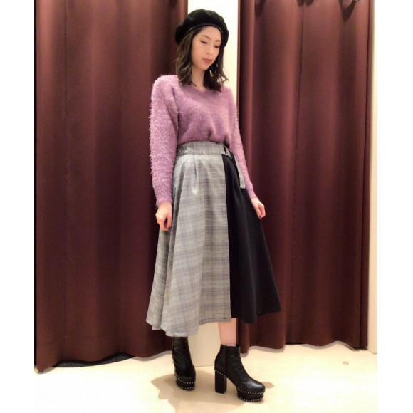 新作♡チェックラップスカート