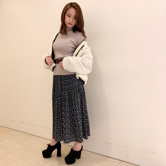 新作♡花柄プリーツスカート