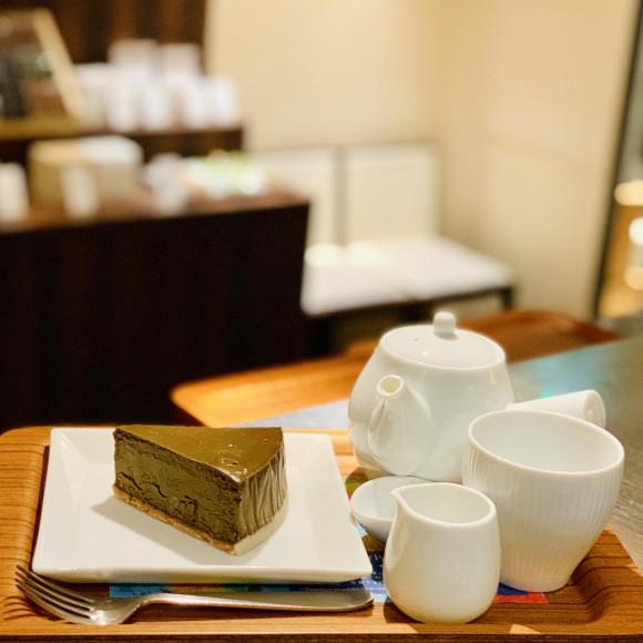 ほうじ茶とクルミのチーズケーキ♡
