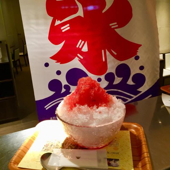 苺のかき氷