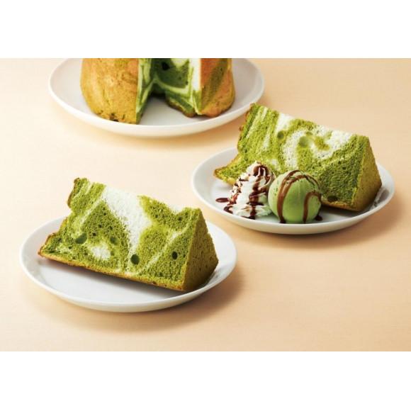 抹茶マーブルシフォンケーキ!
