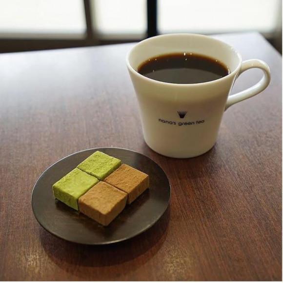 抹茶とほうじ茶の生チョコレート
