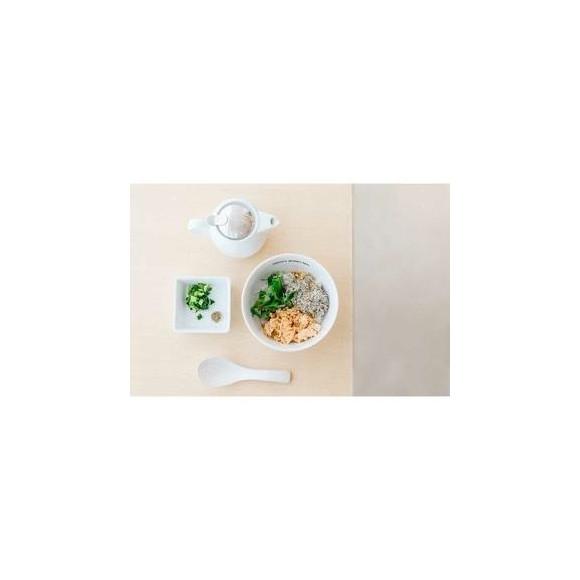鮭ととろろ昆布の柚子胡椒茶漬け