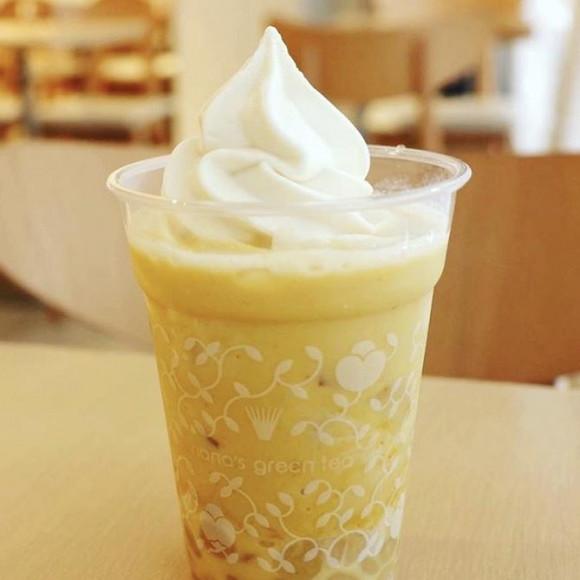 パンプキン豆乳ソフトクリームモチラテ