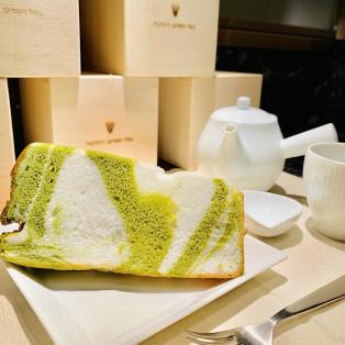 抹茶マーブルシフォンケーキ♡
