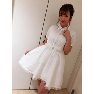 New♡シアードットシャツワンピ