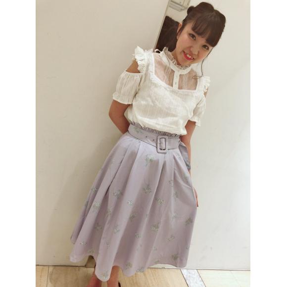 マーガレットブーケ柄♡スカート