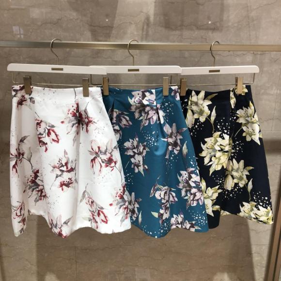 新作♡プリントフレアスカート