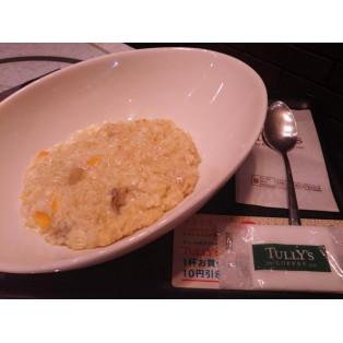 エリンギとチーズソースの玄米リゾット