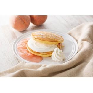 桃フロマージュのパンケーキ