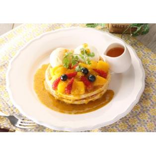 マンゴーとマスカルポーネのパンケーキ
