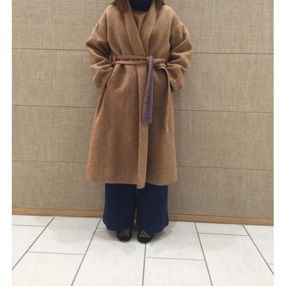 縮絨ニットのコートとボレロ
