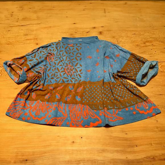 水玉ミックスバンダナのビッグTシャツ