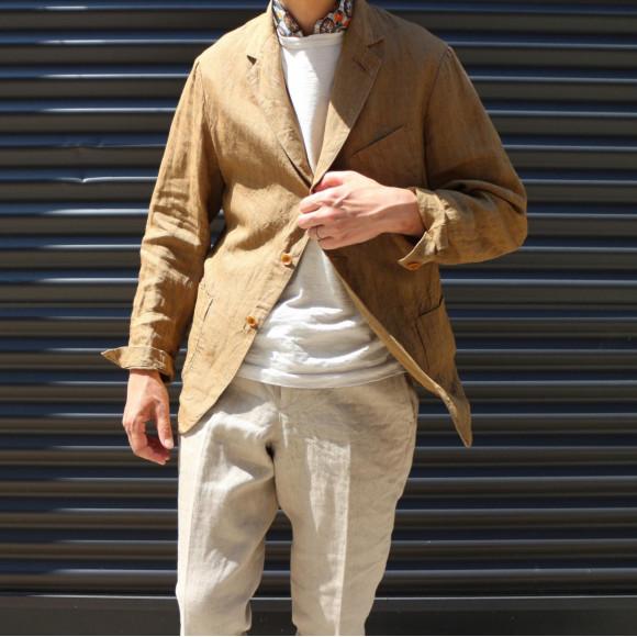 リネンツィードのジャケット