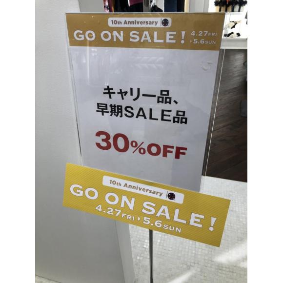 GW企画!GO ON SALE一部商品30〜50%OFF!