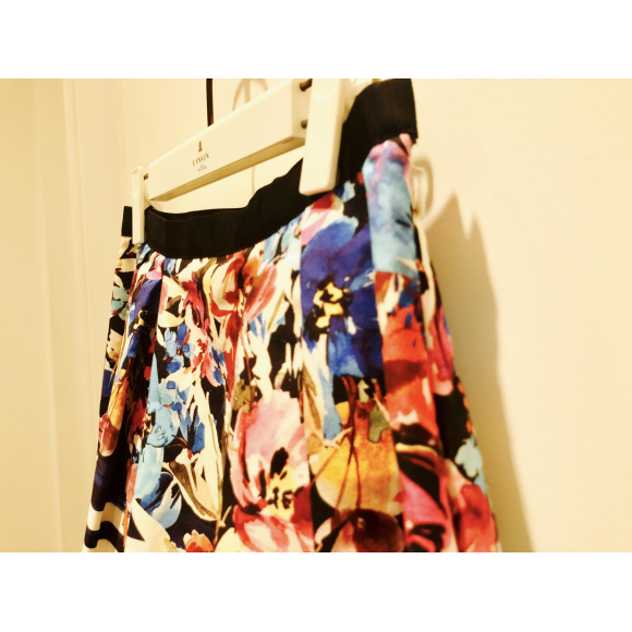 素敵すぎる大人花柄×ボーダースカート