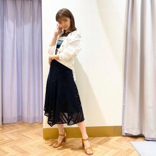 ストライプレース切替スカート♡活用術③♡