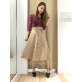 美シルエットなロングスカート♡