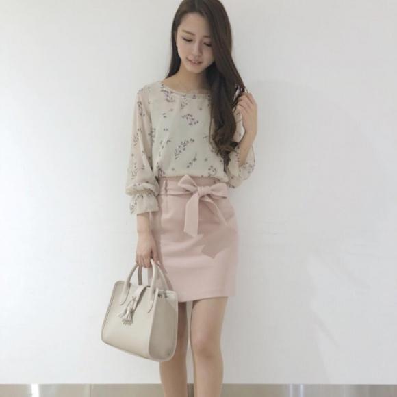 ウエストリボンタイトスカート♡sato