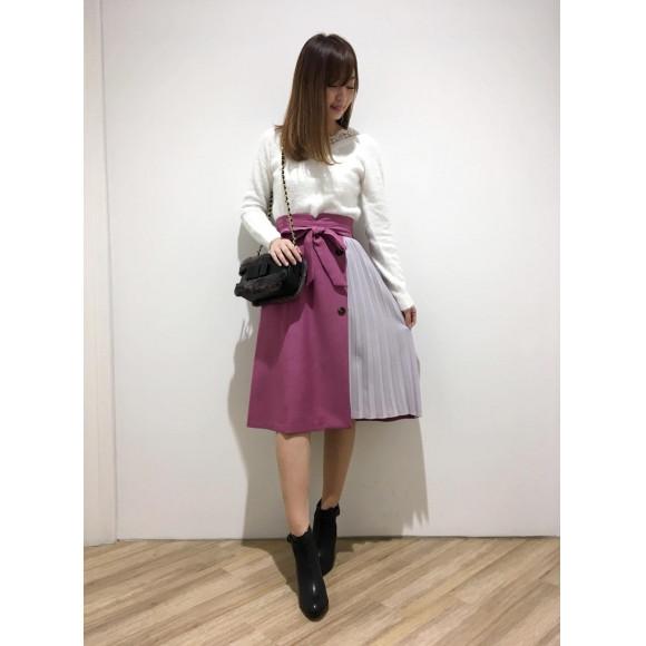 旬のプリーツスカート♡