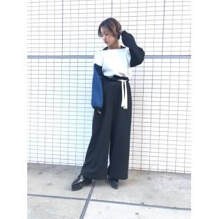 春カラーワイドパンツ着まわしコーデ☆