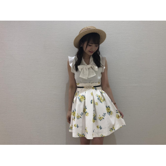 水彩フラワースカート♡