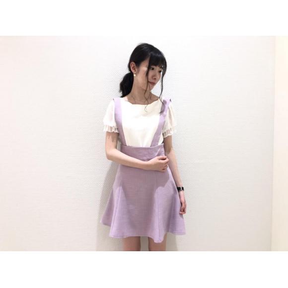 サマーツイードサス付スカート♡