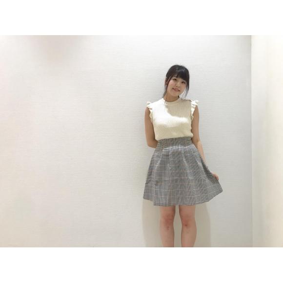 チェックボンディングスカート♡