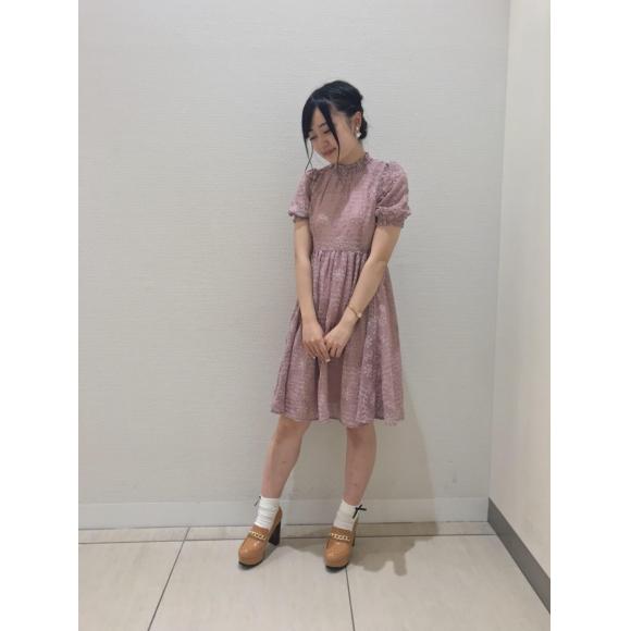 エンブロイダリーシフォンワンピース♡