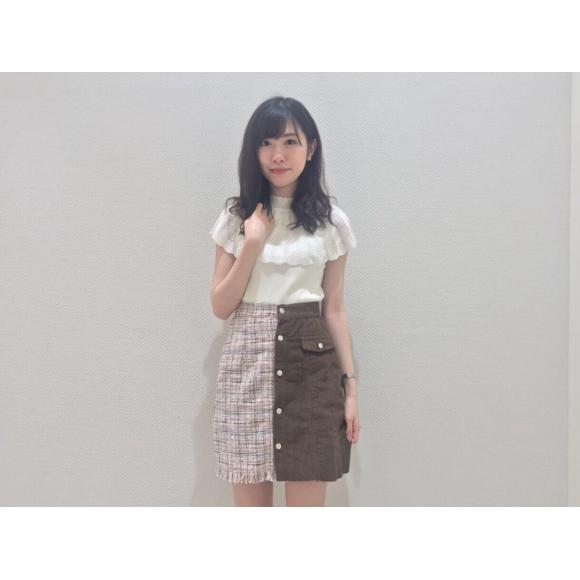 ツイードデニムスカート♡