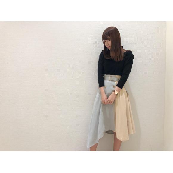 ブロッキングトレンチスカート♡
