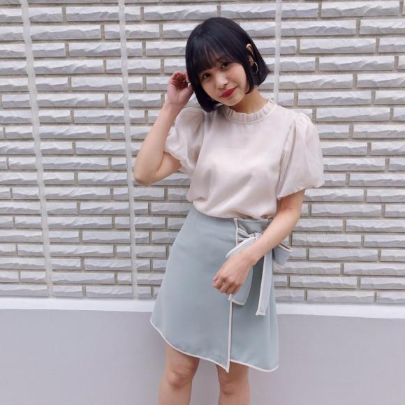 パイピングリボンスカート♡